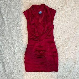 Express Red Mini Satin Dress Size 2